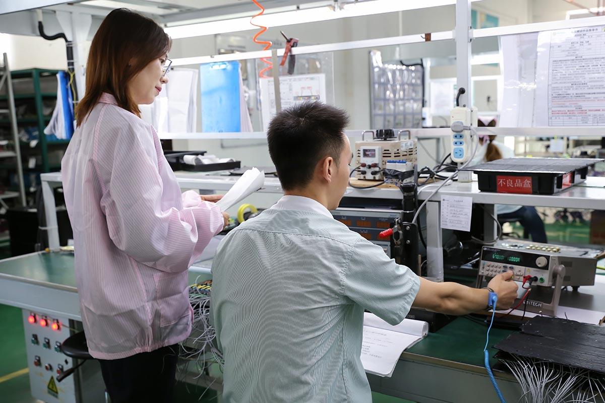 Checking LED lighting electronics