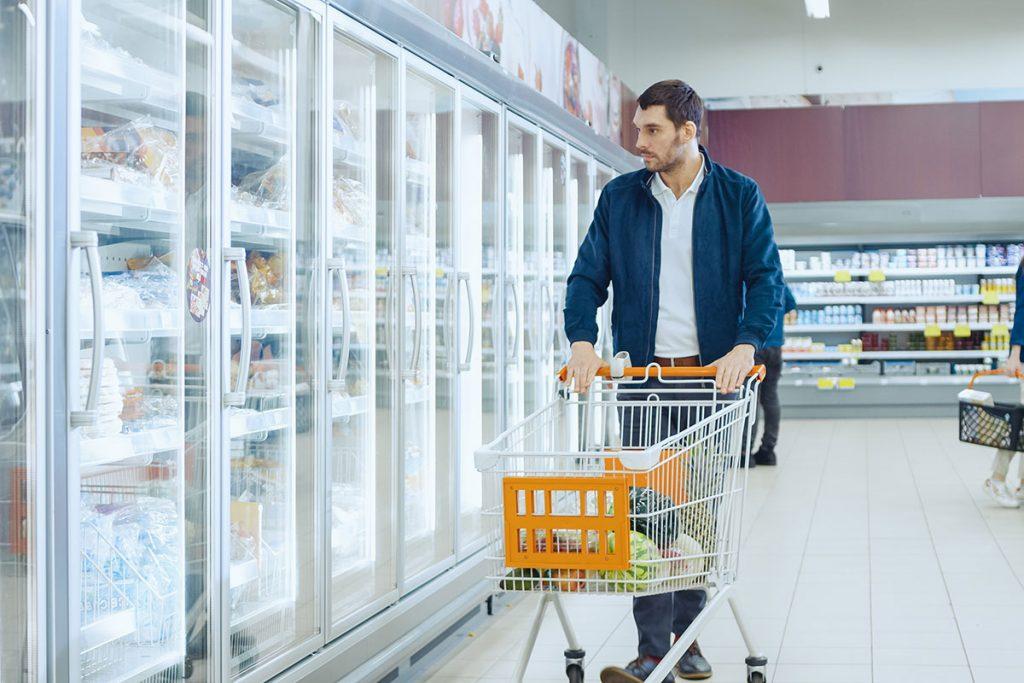supermarket freezer lighting